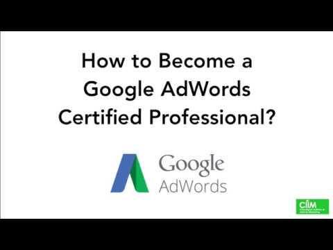 How to Become a Google AdWords Certified Professional? - YouTube