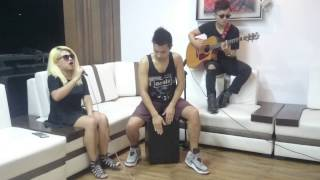 Adele - Cold shoulder (cover by Rini, Anggu and   Valentino) LIVE