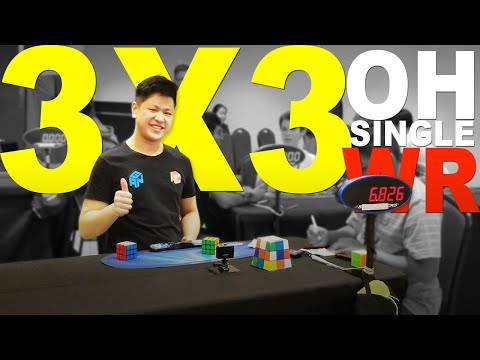 WR [6.82] OH Rubik's Cube 3x3 One handed World Record Single