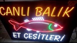 Canlı Balık Led Tabela
