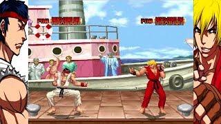Mugen - Street Fighter (King of Fighters 94 Style) - Ryu vs. Ken - 隆 vs. 肯