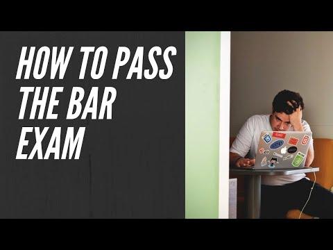 How to Pass the California Bar Exam.