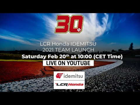 中上貴晶が所属するLCR HONDA Idemitsu が2021年シーズンのMotoGP体制と2021年型マシンをお披露目