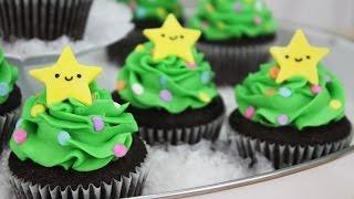 How To Make Christmas Tree Cupcakes!