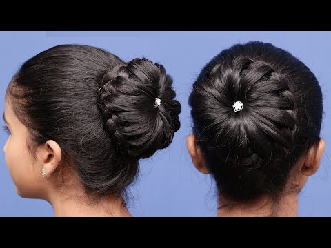 3 Everyday Bun Hairstyles with donut for Wedding & party || prom Updo Hairstyle || Hair styles Girls