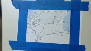 Técnica de pintado en acuarela | dibuja un gato | tips para pintar un gato