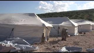 Watch: Camp for Displaced People Established in No Man's Land Along Turkish Border