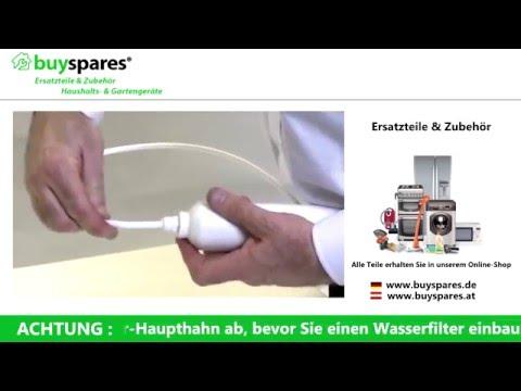 Anleitung: Wasserfilter Ihres Kühlschranks austauschen