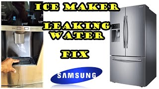Samsung Refrigerator leaking water from ice maker FIX. model # RF28HFEDBSR