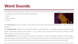Poets- Skill 6- Word Sounds
