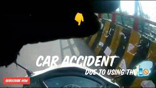 CAR ACCIDENT   E-Rickshaw hit the Car #avoid #road #rage