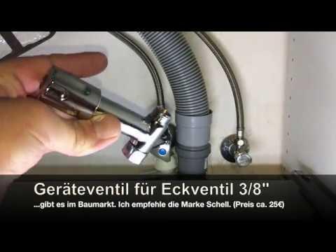 ECKFIX Zusatzventil auf Eckventil für Geschirrspüler