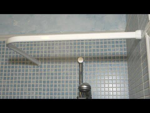 Ba/ño KINLO Barras para Cortinas de Ducha Ajustable Giratoria de 70-120cm Barra de Ducha Adecuado para Barra de Ropa con Sujeci/ón Segura sin Perforar en el Gabinete