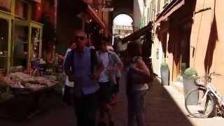 Via Clavature street, Bologna, Italy