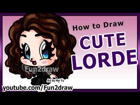 Art Lessons - Learn to Draw Lorde - How to Draw People + Celebrities - Fun2draw Chibi Girl