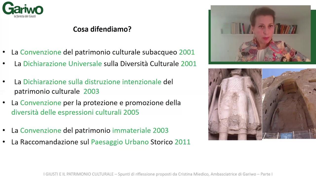 Cristina Miedico - I Giusti e il patrimonio culturale