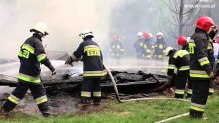 Pożar stodoły w Bóbrce