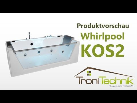 TroniTechnik - Whirlpool Badewanne KOS 2 179cm x 85cm