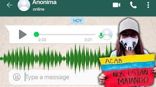 Audio de WhatsApp revela lo que está pasando en Colombia