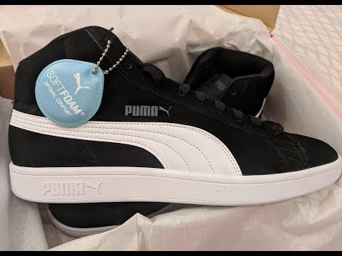 Puma Smash V2 Mid SD - Unboxing on my bed