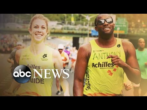 Blind runner and his running guide fall in love
