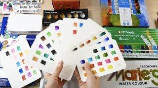 贝大大水彩教程1:如何选择适合的颜料 watercolor paint compare