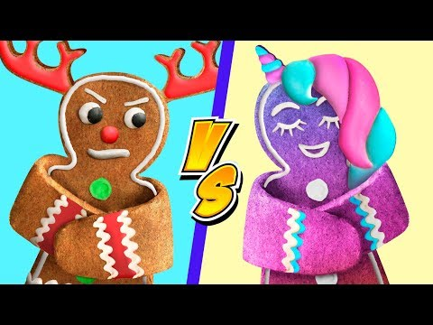 9 Fun Christmas Treat Ideas / Unicorn Christmas Candies vs Reindeer Christmas Candies Challenge!