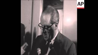 SYND 1 1 1965 SPD MEMBER HERBERT WEHNER MAKES A STATEMENT