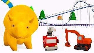 Учим цвета вместе с Динозавриком Дино и его машинками в парке аттракционов | Обучающий мультфильм