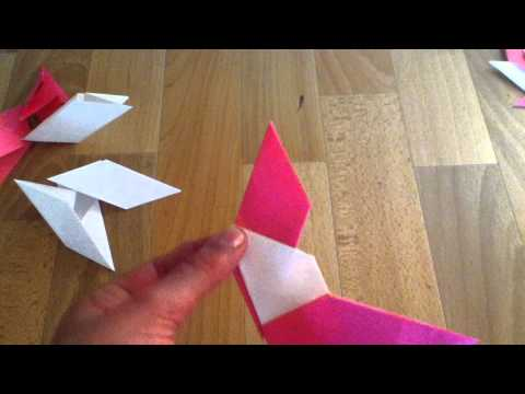 Papierstern / Ninjastern - Faltanleitung