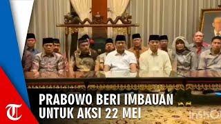 Ditemani Sejumlah Jenderal Purnawirawan, Prabowo Sampaikan Himbauan untuk Pendukungnya