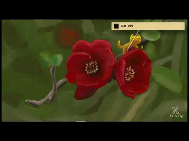 【じっくり絵心教室】画材コース 絵具レッスン「マルメロの花」(Art Academy Paint)