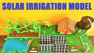 solar irrigation model for science exhibition(renewable energy) | Agriculture model | diy