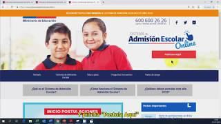 Se entregan lineamientos generales del proceso de admisión escolar (estudiantes nuevos)