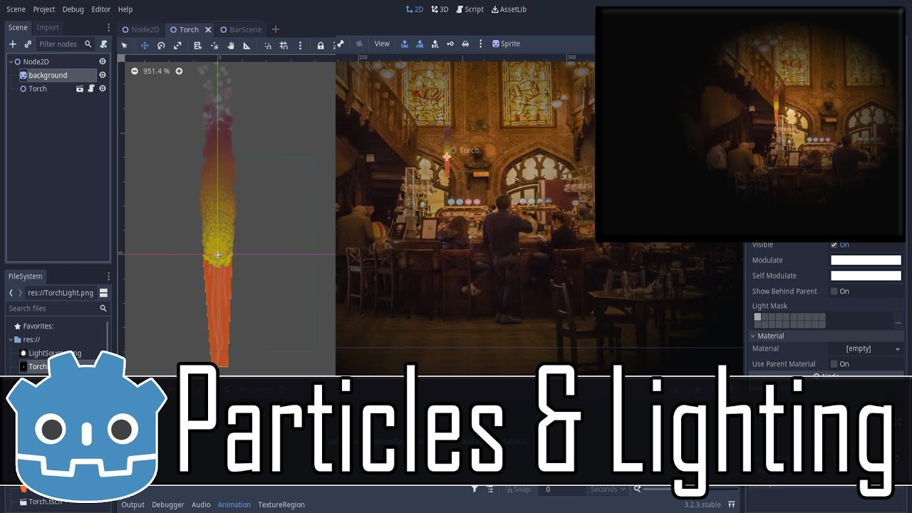Godot Particles, Lighting & Shadows -- Creating a Dynamic Torch Tutorial