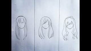 How To Draw Female Anime Hair (part 2)