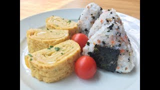Tamagoyaki & Onigiri Breakfast Recipe