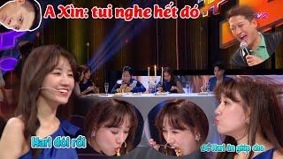 """""""Thánh ăn SẬP gameshows"""" Hari Won vừa ăn vừa """"hùa"""" theo Trường Giang, Nam Thư """"NÓI XẤU"""" Trấn Thành"""