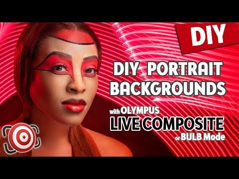 DIY Portraits Backgrounds – Painting with Light using Olympus Live Composite or Bulb Shooting Mode