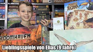 Lieblingsspiele von Elias (9 Jahre) - Top Familienspiele und Kennerspiele für spielerfahrene Kinder