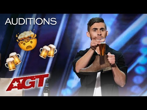 Dom Chambers Chugs A Beer With Intoxicating Magic! - America's Got Talent 2019 (видео)
