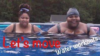 day 6 of the lets move challenge   aqua fitness    aqua aerobics    female fitness motivation