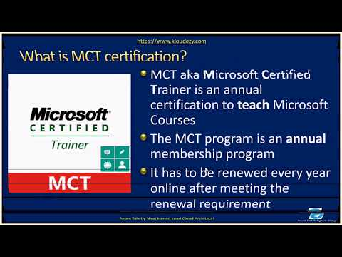 AzureTalk How to become MCT Microsoft Certified Trainer - YouTube