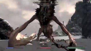skyrim: пробний бой с драконом используя моды.