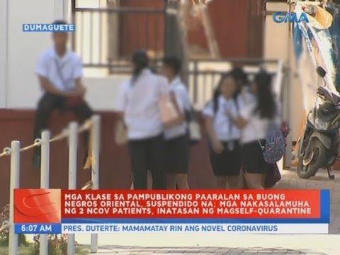 [GMA]  UB: Mga klase sa pampublikong paaralan sa buong Negros Oriental, suspendido na
