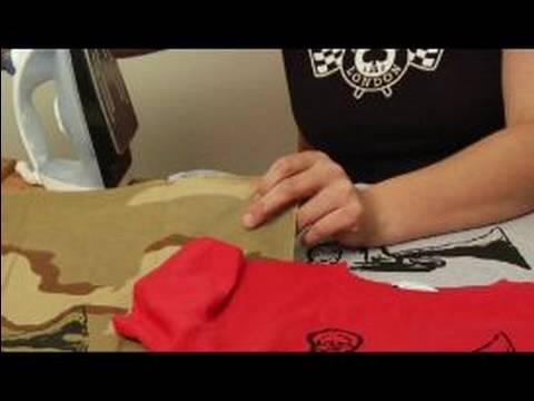 How to Silkscreen a T-Shirt : Ironing T-Shirts to Heat Set Image for Silkscreening