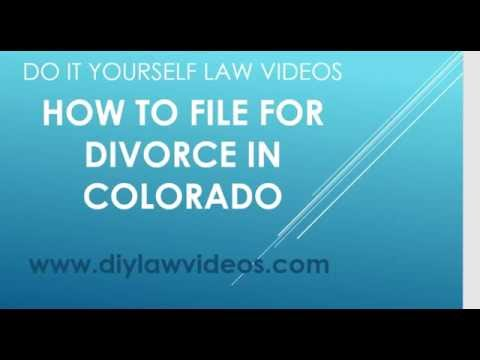 How To File For Divorce in Colorado