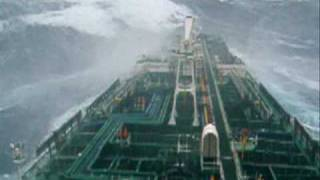 Tanker in big storm