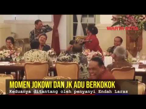 Momen Saat Jokowi dan JK Adu Berkokok