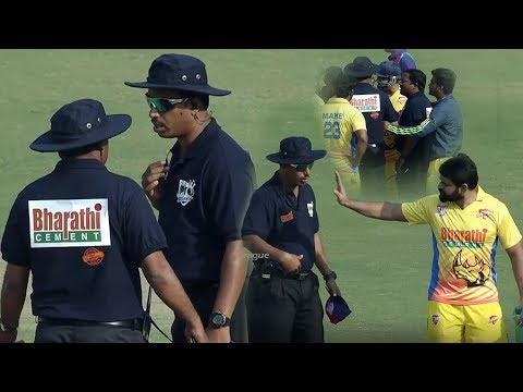 A Serious Debate Between Players And Umpire For His Wrong Decision